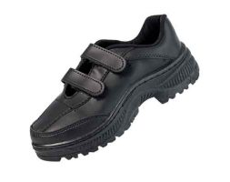 CHOOLS Black Velcro School Shoe – 6043